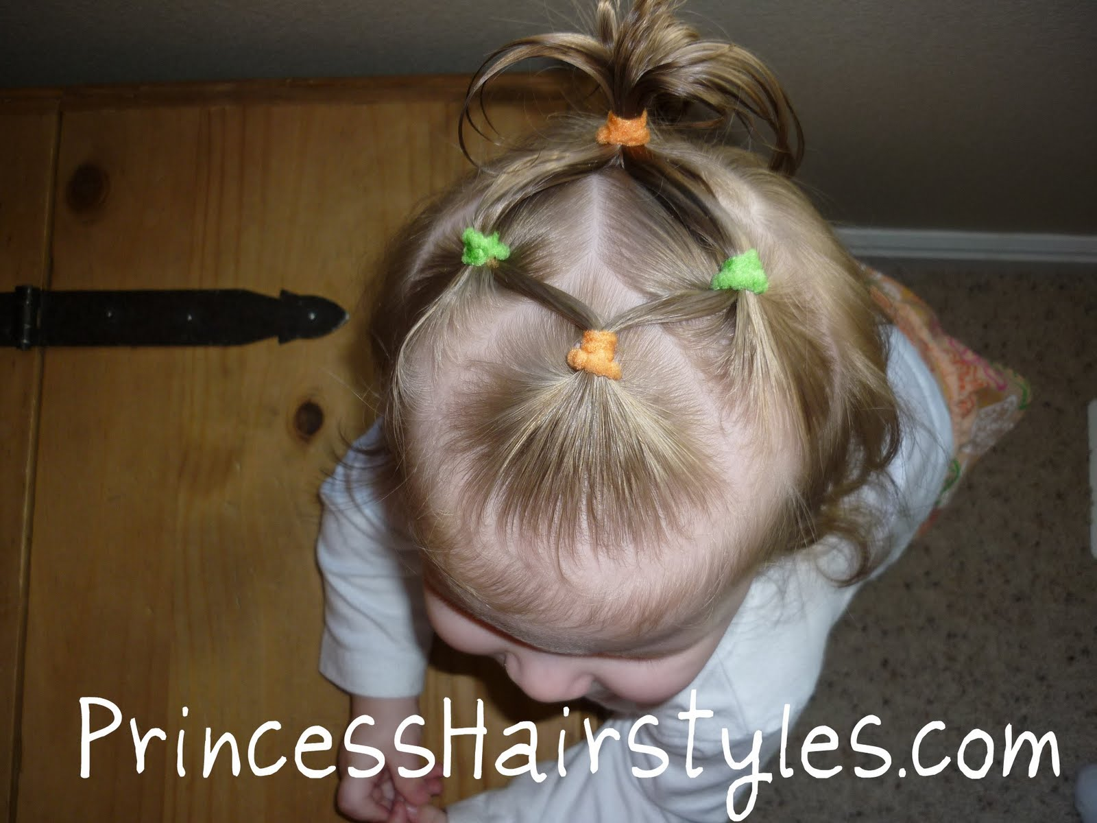 Baby Hairstyles - 4 Connecting Ponytails