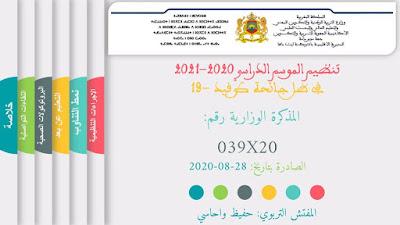عرض تفصيلي للمذكرة (20-039) من إعداد المفتش التربوي حفيظ واحاسي