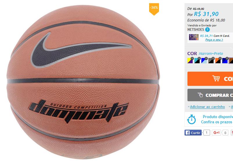 16c5752e52 Bola Basquete Nike Dominate   - Bem Barato - Cupons Descontos Bugs e  Promoções
