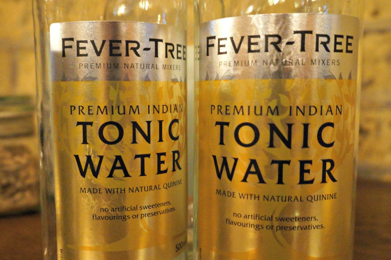 Tonic bottle during Gin Tasting