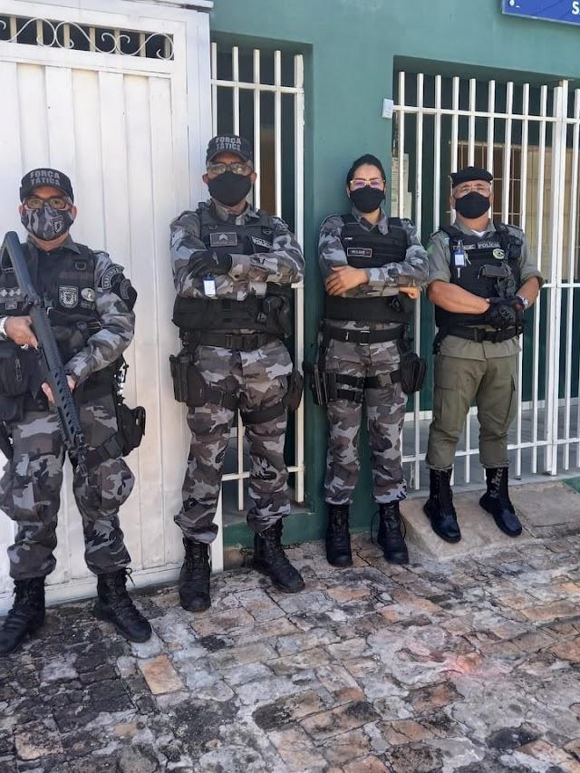 São Félix do Piauí: GPM recebe visita de integrantes do Policiamento do Semiárido.