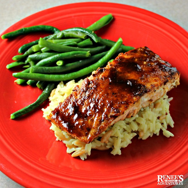 Miso-Ginger Glazed Salmon | by Renee's Kitchen Adventures