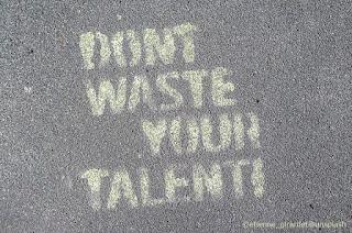 Invito a tutti i giovani a non sprecare il loro talento