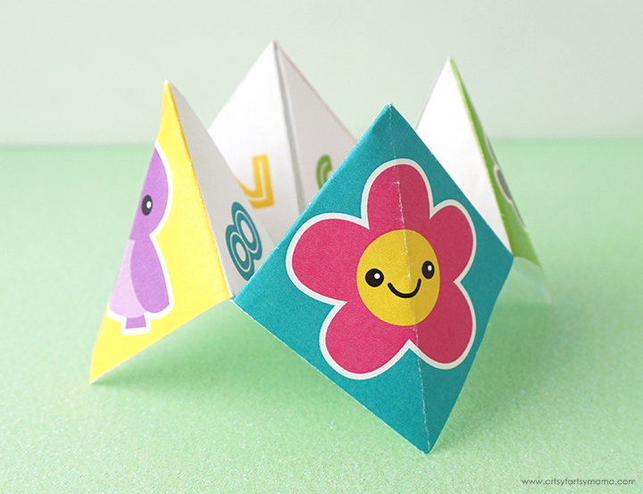 Free Printable Spring Joke Cootie Catcher