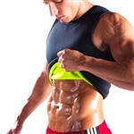 Men's Body Shaper Tummy Tank Top Slimming Vest Weight Loss Shapewear Neoprene No Zip