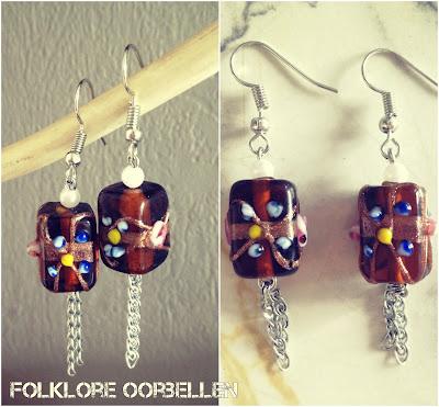 Handgemaakte Juwelen Folklore Oorbellen