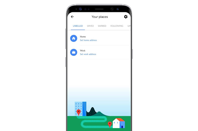 Add Home And Work Place On Google Maps