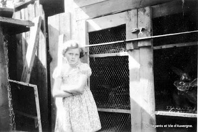 Photos de familles d'Auvergne en noir et blanc