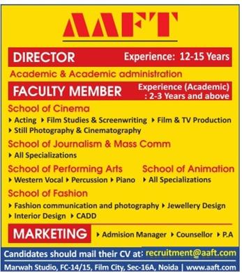 interior design faculty jobs in delhi noida