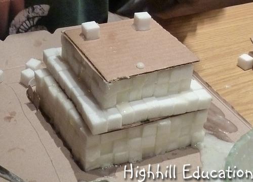 Highhill Homeschool Sugar Cube Ziggurats
