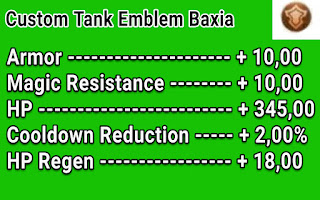 Custom Tank Emblem Hero Baxia Terbaru