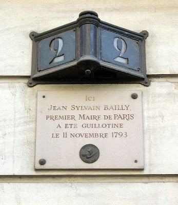 Plaque commemorating the death of Jean-Sylvain Bailly