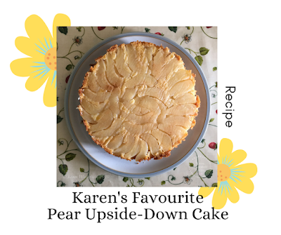 https://karenwiederhold.blogspot.com/2020/05/chatting-about-pear-upside-down-cake.html