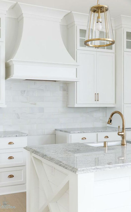 stylish white kitchen design idea