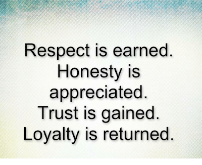 Respect Is Earned Honesty Is Appreciated Quote