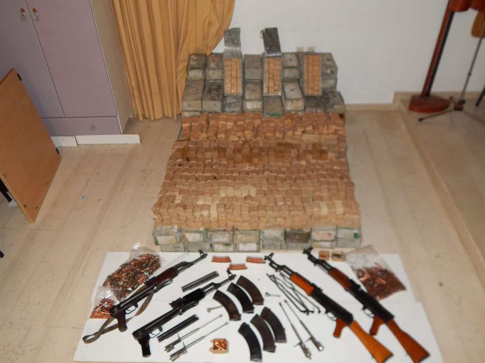 Έφερναν πολεμικά όπλα και πυρομαχικά από την Αλβανία ..Κρησφύγετα και στην Ήπειρο Έρευνα σε σπίτι στη Θεσπρωτία