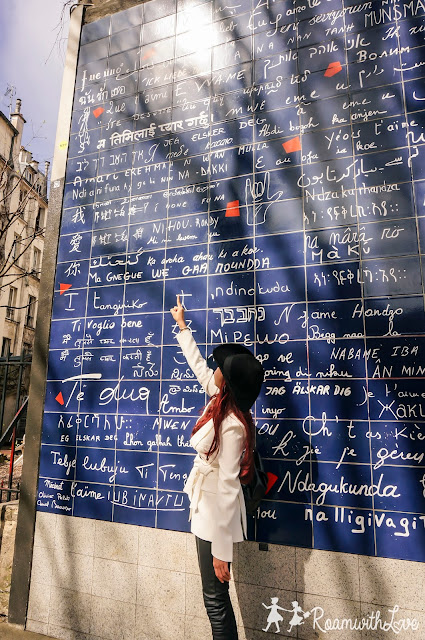 Honeymoon, cafe, Paris, review, ฝรั่งเศส, รีวิว, ฮันนีมูน, สวีท,ปารีส, montmartre, มงมาร์ต, sacre couer, KB cafeshop,maison georges larnicol,moulin de la galette , dalida, wall of love
