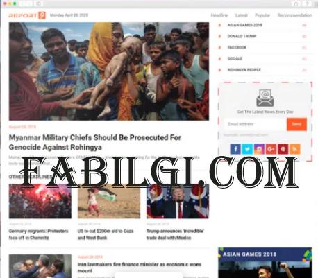 Haber Sitesi Bedava Blogger Teması İndir Liputan 2021