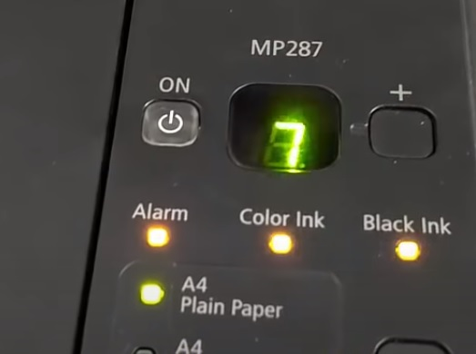 The Newest Way to Reset Printer Canon MP287 error P07 using Service Tool v3400