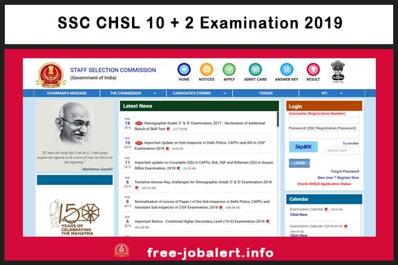 SSC CHSL 10 + 2 Examination 2019: SSC Selection Commission Invited Application for Combined Higher Secondary Level (CHSL Recruitment) LDC, Assistant & Data Entry Operator