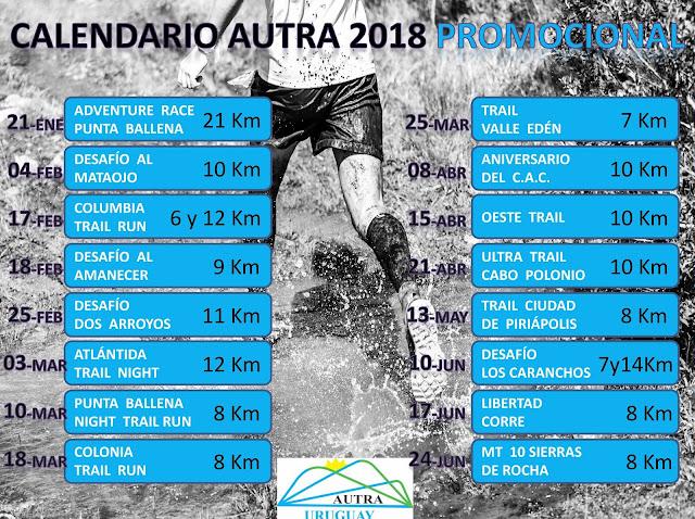Calendario Running.Recorrer Uruguay Calendario Autra Actualizado De Carreras