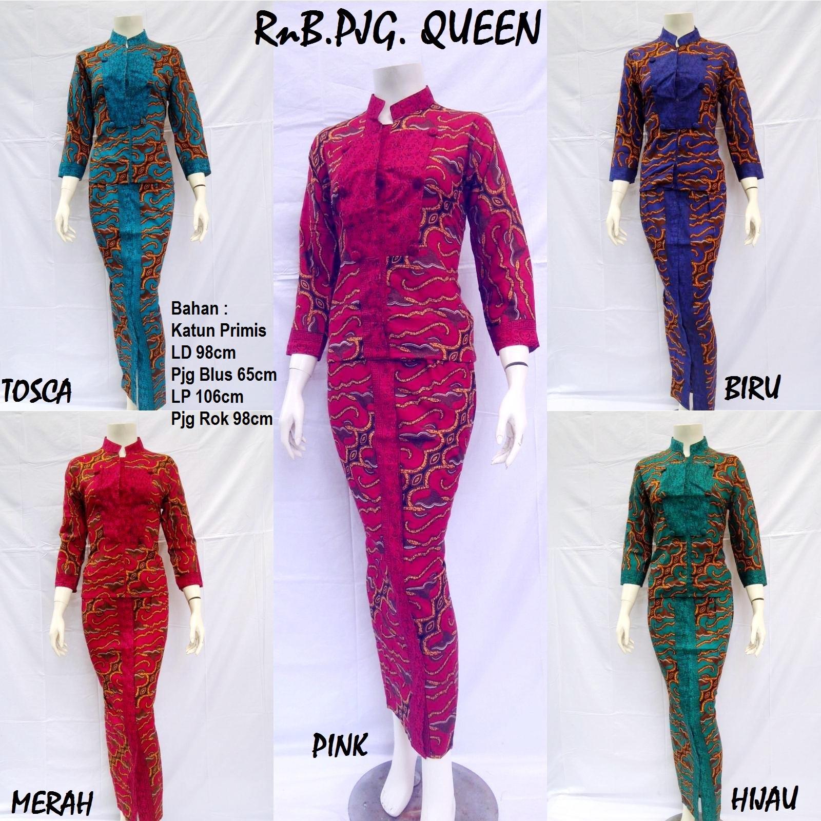 Produksi dan menjual grosireceran baju batik jadi ROK and BLUS