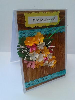 Kartki imieninowe bukiet kwiatuszków