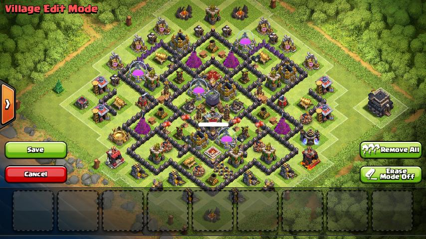 Base Farming TH 9 Anti Dark Elixir DE Terbaru