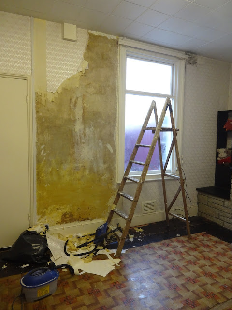 removing wallpaper in the dining room