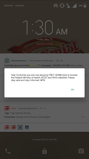 Free data for MTN