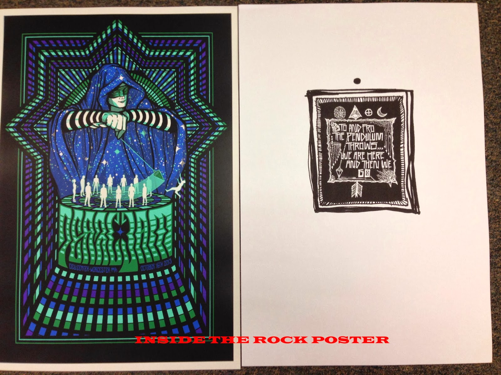 Art Other Art 2014 Zeb Love Poster Print Shrine Auditorium Los Angeles Bright The Avett Brothers