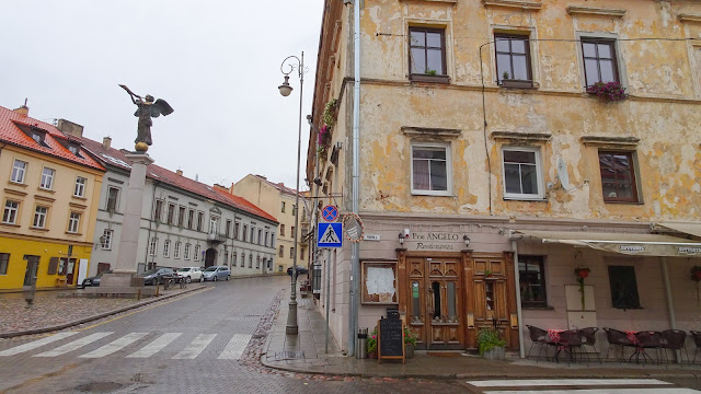 The center of Uzupis is not difficult to find. Just cross the bridge and from the Old town and there it is.