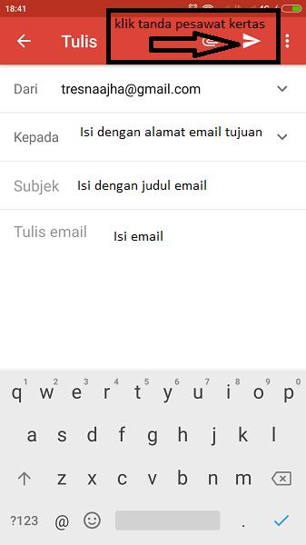 cara mengirim email lewat hp xiaomi