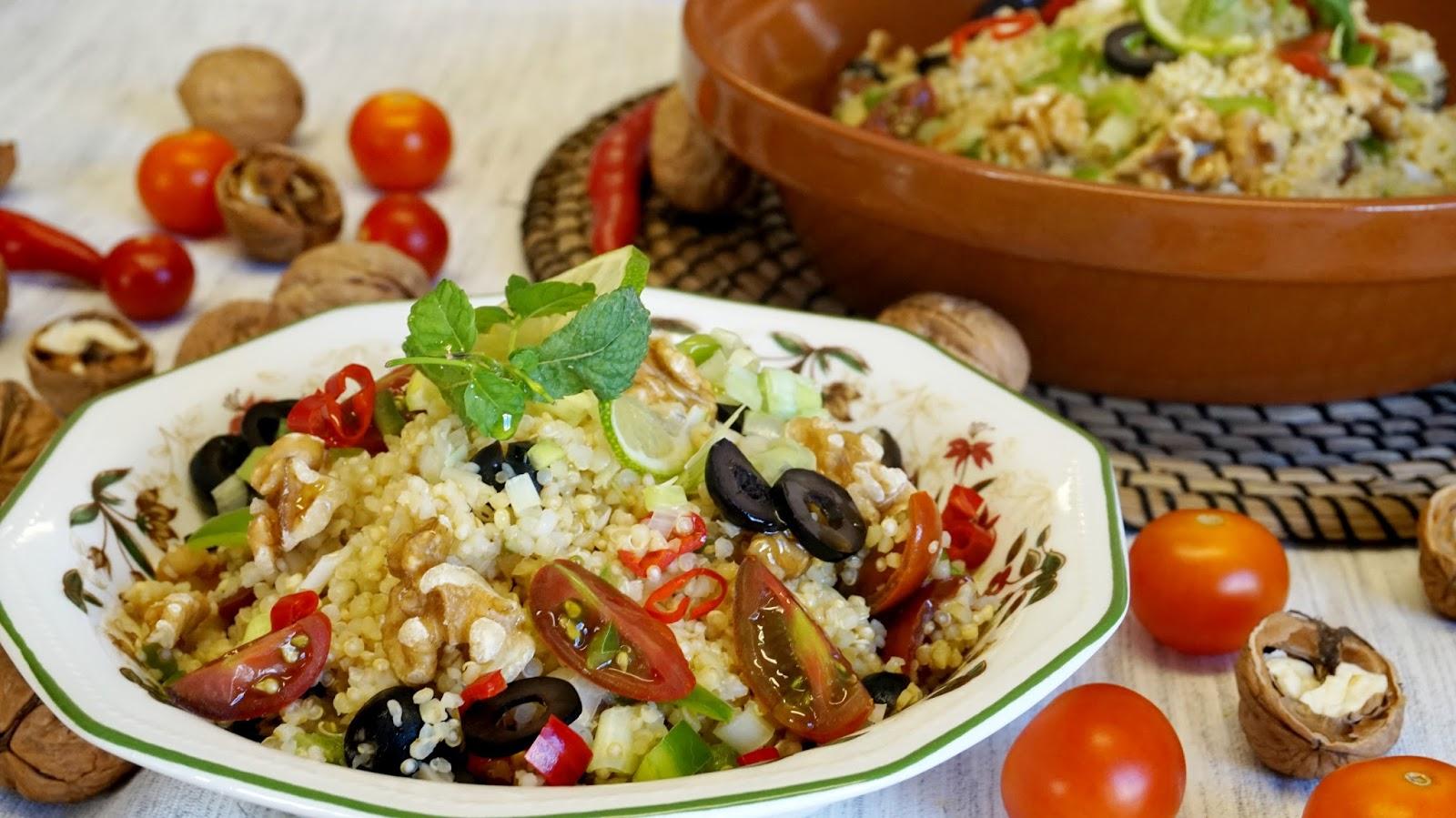 Ensalada de quinoa y bulgur tabouleh la cocina facil for Como se cocina la quinoa para ensalada