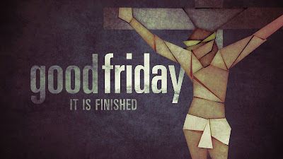 """Picture of Jesus Christ on the cross with the words """"Good Friday Service"""""""
