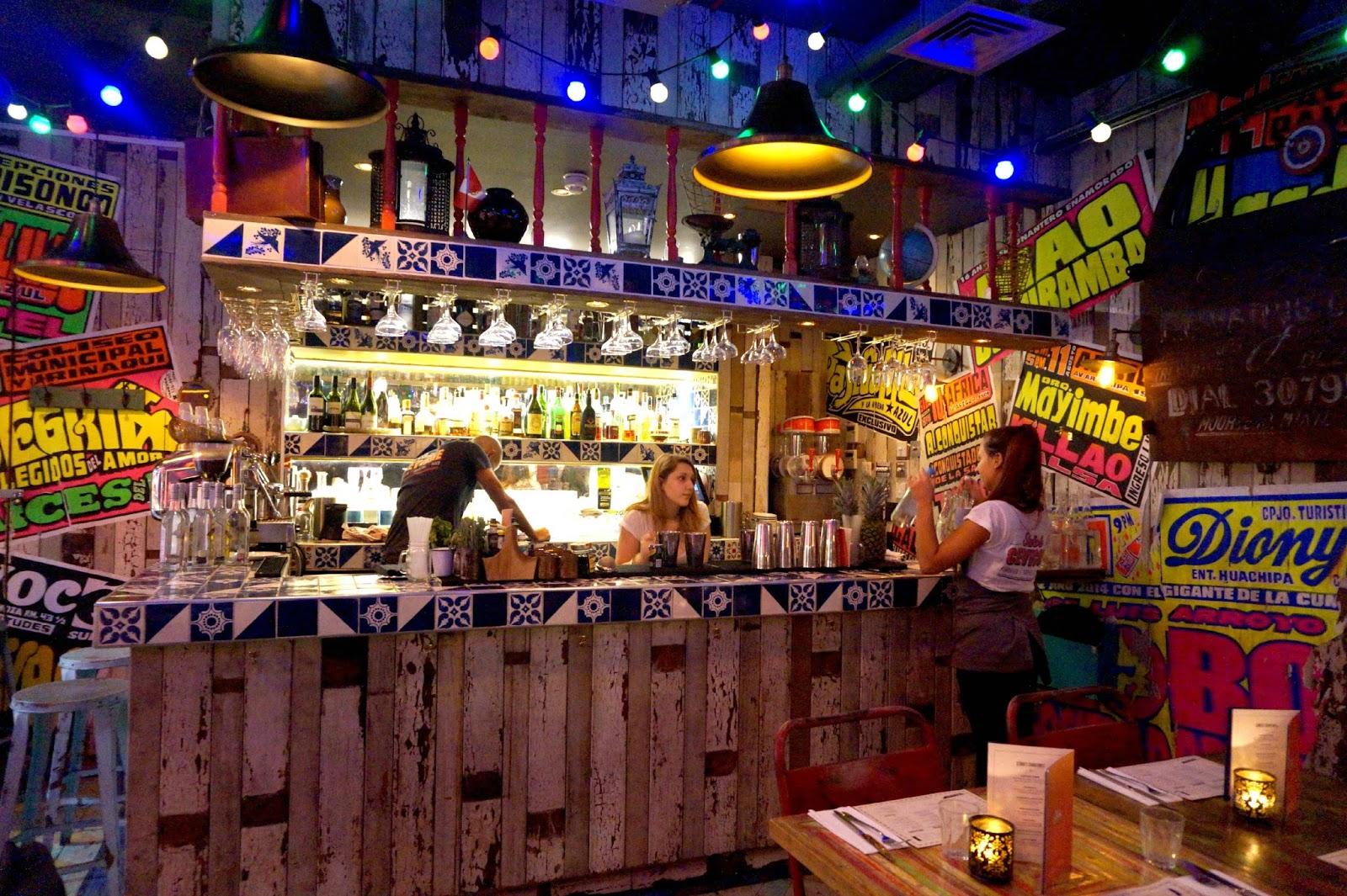 Bar inside restaurant