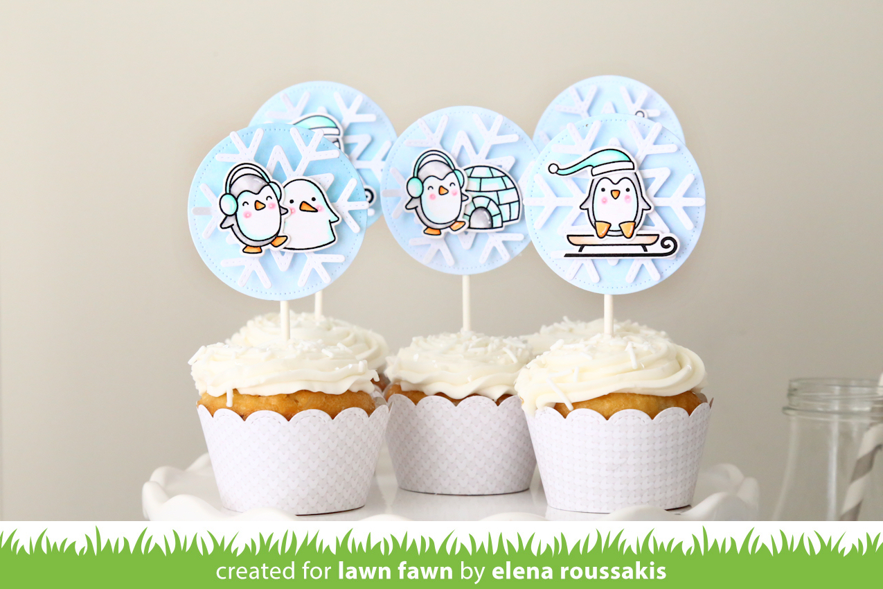 ... from Snow Cool and Toboggan Together with Stitched Scalloped Cupcake  Wrapper, Scalloped Treat Box and our snowflake die sets to create party  decor ready ...
