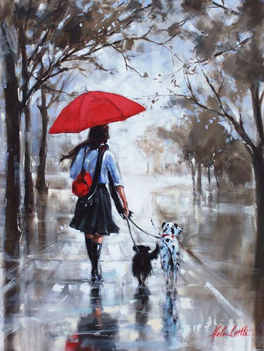 Helen Cottle | guarda-chuva vermelho