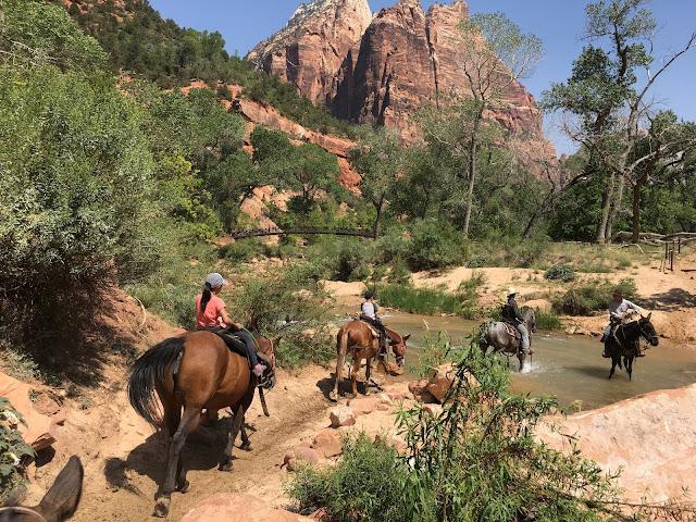 zion canyon trail rides horseback