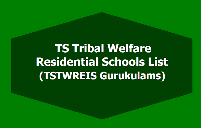 District Wise TS Tribal Welfare Residential Schools List, TSTWREIS Gurukulams