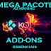 MEGA PACOTE COM ADD-ONS ESSENCIAIS PARA O FUNCIONAMENTO DO KODI - 25/05/2016