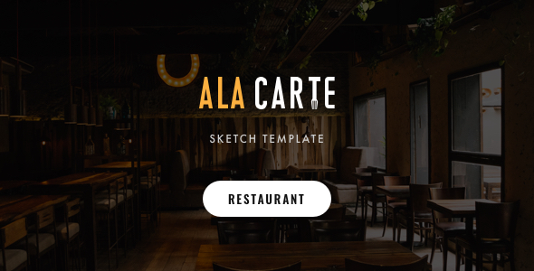 Alacarte - Restaurant & Cafe Sketch Template