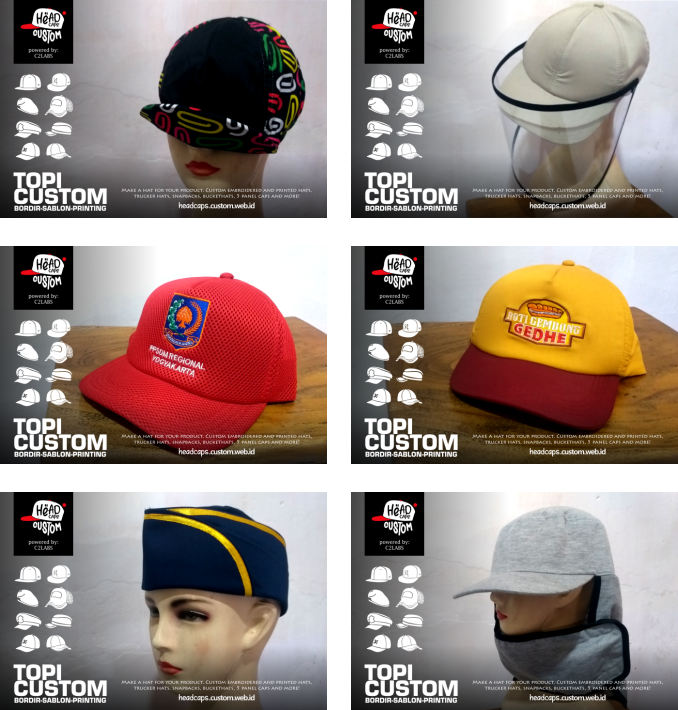 Bikin Topi Jogja Custom