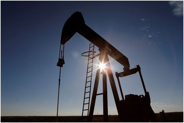 Oil gains