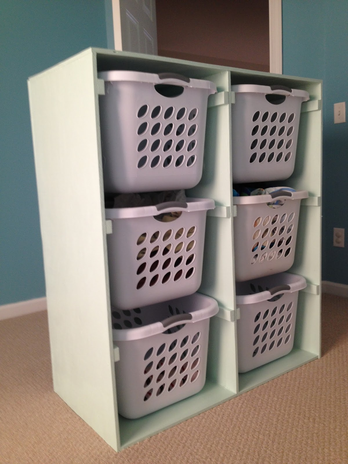 Laundry Basket With Shelves Charlotte 39s Empire Build Shelves For Your Laundry Baskets