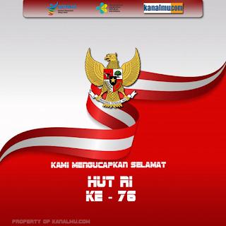 gambar poster ucapan selamat hut ri ke 76 dirgahayu indonesia - kanalmu