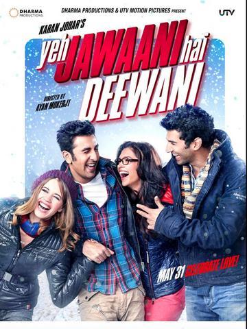 Yeh Jawaani Hai Deewani 2013 Hindi 480p BluRay x264 450MB ESubs