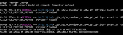 Unable to init X Window server