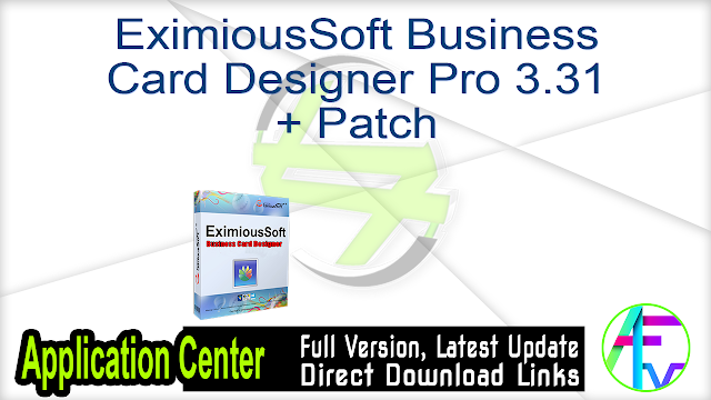 EximiousSoft Business Card Designer Pro 3.31 + Patch