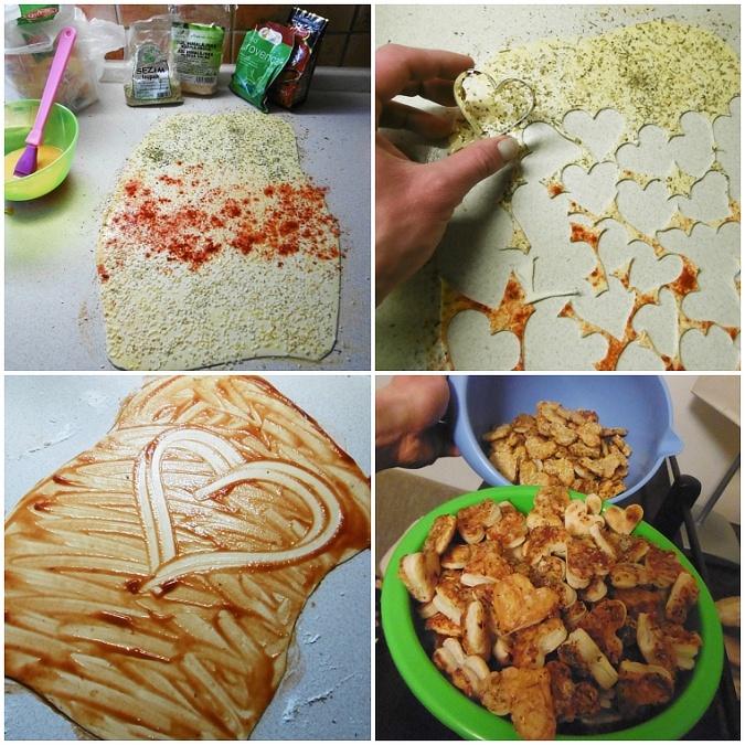 listove, testo, srdicka, pizza, chutovka, k vinu, slane, peceni